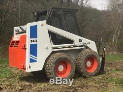 Véritable Bobcat 1988 743 Mini Chargeuse / Chargeuse