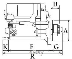 Yanmar Kobelco 4jh Anlasser Starter 15zähne 12v 1,4kw 119209-77010 S114-257